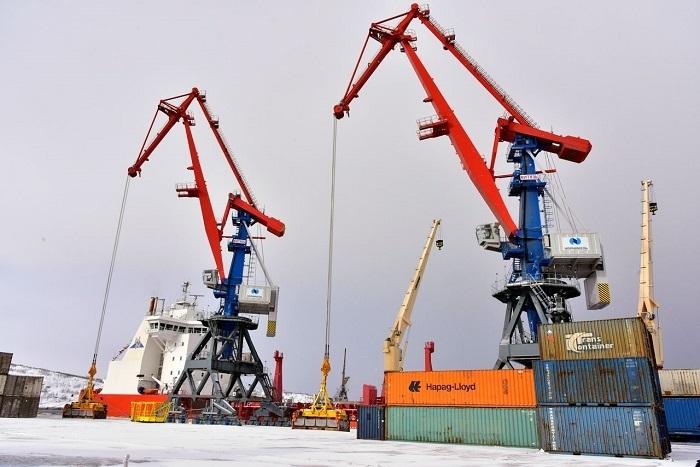 ВМурманском терминале «Норникеля» внесены вэксплуатацию портальные краны «Витязь»
