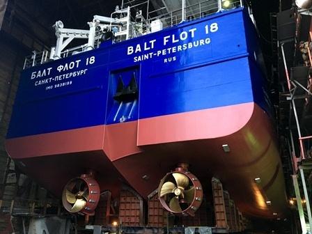 Танкер «Балт Флот 18» сошел состапелей нижегородского завода «Красное Сормово»