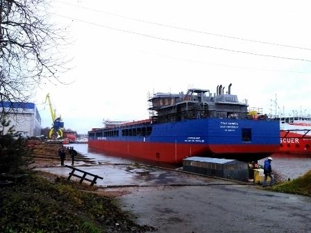 Невский ССЗ спустил на воду второй сухогруз «Пола Анфиса»