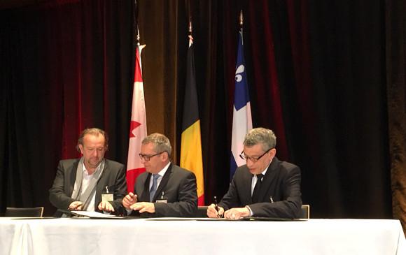 Брюссельский порт и порт Квебек подписали соглашение о партнерстве