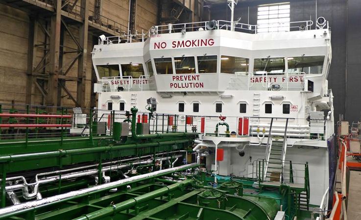 На «Красном Сормове» спустили наводу нефтеналивной танкер